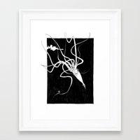 kraken Framed Art Prints featuring Kraken by Andrew Mar