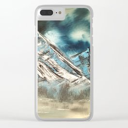Winter Skies Clear iPhone Case