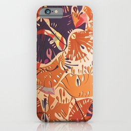 Jubilation- Colorful Abstract Collage iPhone Case