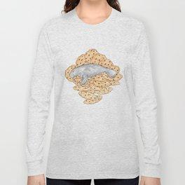 Manatee Cookies (lined) Long Sleeve T-shirt