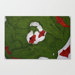 Underwater Crocs Canvas Print