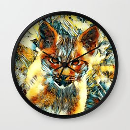 AnimalArt_Cougar_20170601_by_JAMColorsSpecial Wall Clock