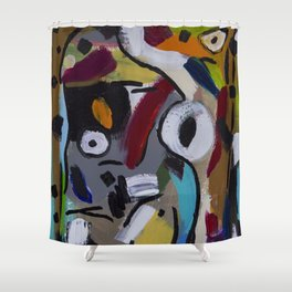 One Seeing Eye Shower Curtain