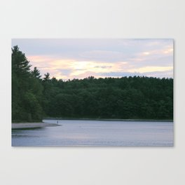 Walden Pond at Dusk 5 Canvas Print