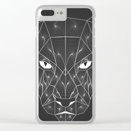 Panther Puma Black Zentangle Clear iPhone Case