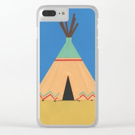 Tipi Green Red Clear iPhone Case
