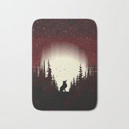 Red Forest Fox Bath Mat