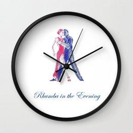 RHUMBA EVENINGS Wall Clock