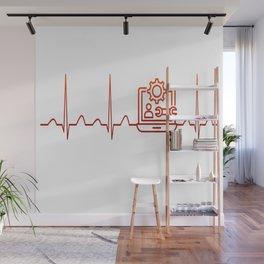 Software Engineer Heartbeat Wall Mural