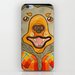 Bear Gone Fishin' iPhone Skin