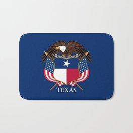 Texas flag and eagle crest concept Bath Mat