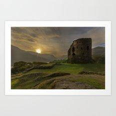 Dolbadarn Castle Sunrise Art Print