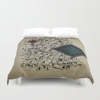 paper towns Duvet Covers featuring Paper by thinschi
