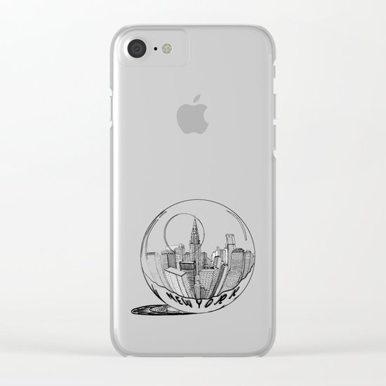 New York in a glass ball Clear iPhone Case
