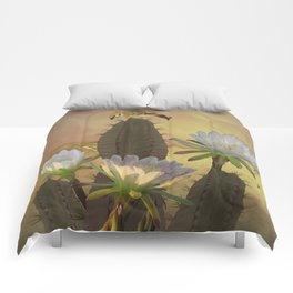 Night Blooming Cereus Comforters