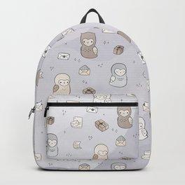 Owl Post Pattern - Lavender Watercolor Backpack