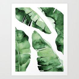 Tropical Banana Leaf Art Print