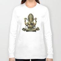 ganesha Long Sleeve T-shirts featuring Ganesha by Justin Atkins