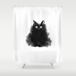 Duster - Black Cat Drawing Shower Curtain
