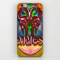 zodiac iPhone & iPod Skins featuring Aries Zodiac by CAP Artwork & Design