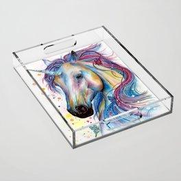 Whimsical Unicorn Acrylic Tray