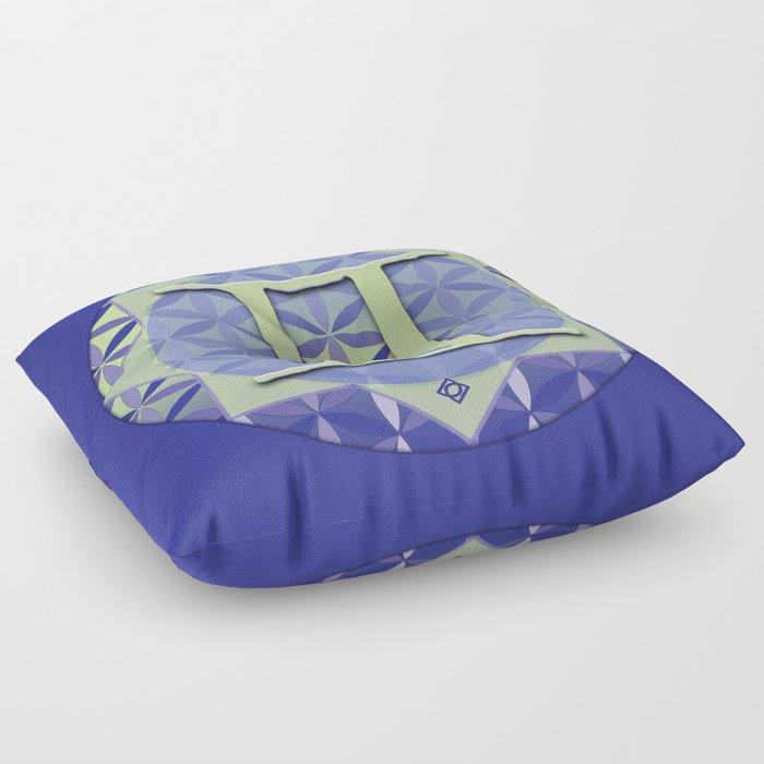 Flower of Life GEMINI Astrology Design Floor Pillow