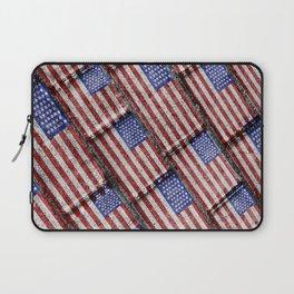Usa Flag Grunge Pattern Laptop Sleeve