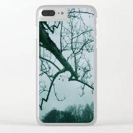 Gray Skies Clear iPhone Case