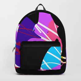 Colourful Hair Girl Abstract Art Backpack