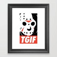 TGIF Framed Art Print