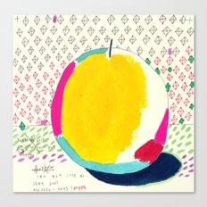 Diamond and Yellow Apple Canvas Print