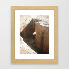 Color Travel Art Rock and a hard place #1 Framed Art Print