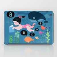 swimming iPad Cases featuring Swimming by Sugar Snap Studio