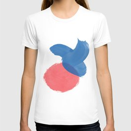 Minimalism Red & Blue T-shirt