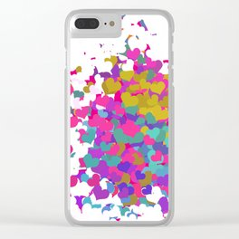 Heart leaf colorful Clear iPhone Case