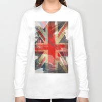 union jack Long Sleeve T-shirts featuring Union Jack by Honeydripp Designs