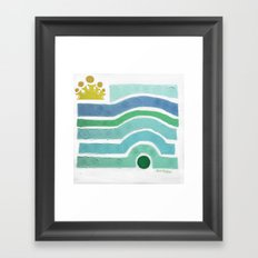 :: Princess n' Pea (Mint) Framed Art Print