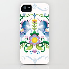The Royal Society Of Cute Unicorns Light Background iPhone Case