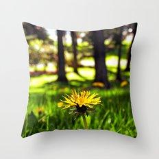 Park dandelion Throw Pillow