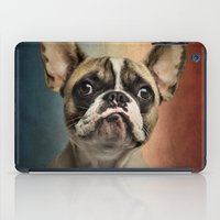 french iPad Cases featuring French bulldog, french flag ! by Life on White Creative