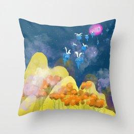 The Elefums Fly at Night Throw Pillow