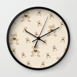 Teddy Bears - Beige Wall Clock