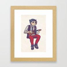 Ukulele Guy Framed Art Print