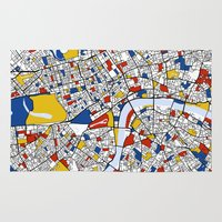 london Area & Throw Rugs featuring London by Mondrian Maps