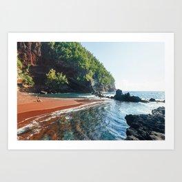 Red Sand Beach - Hana, Hawaii Art Print