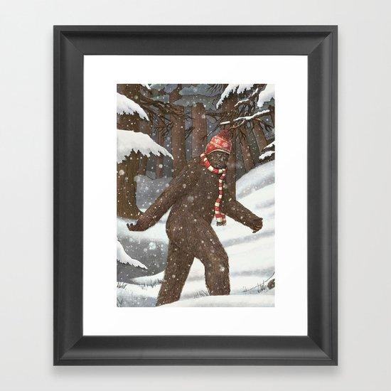 Everyone Gets Cold Framed Art Print