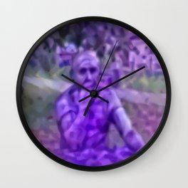 Thinking Lavandula Wall Clock