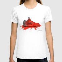 air jordan T-shirts featuring  2016 Air Jordan Retro (crimson red) by artbyinfernix