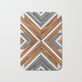 Urban Tribal Pattern 4 - Wood Bath Mat