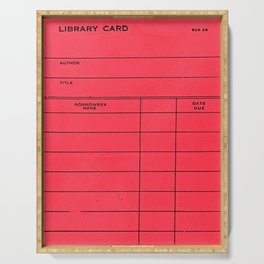 Library Card BSS 28 Red Serving Tray